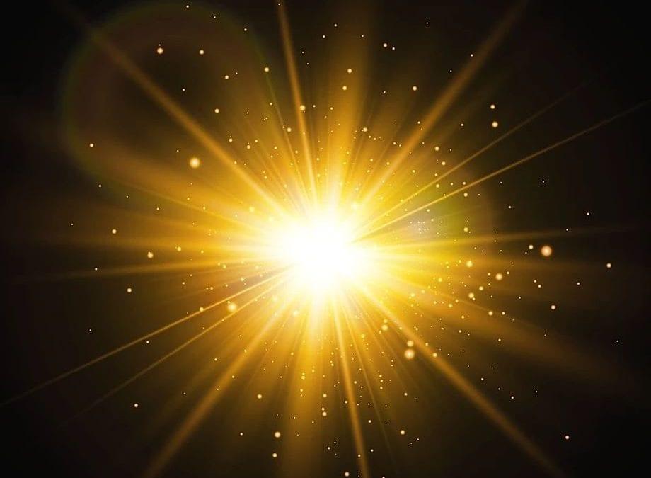 burst of star scalar light energy