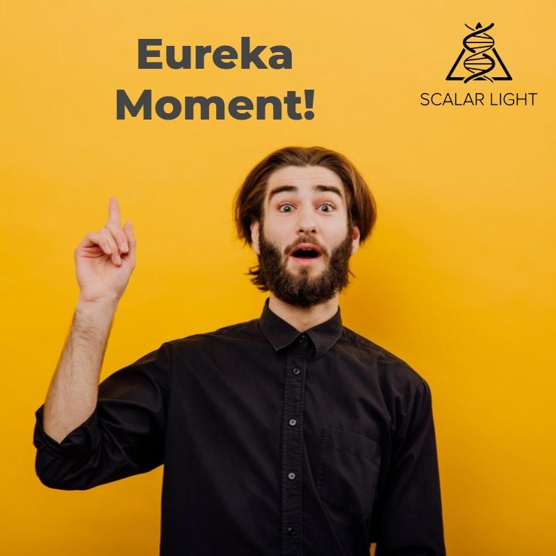Man having a eureka moment
