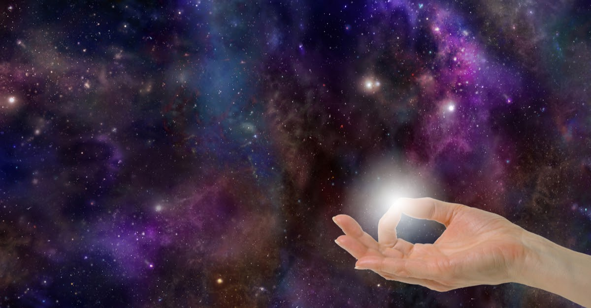 light administered for distance healing across space