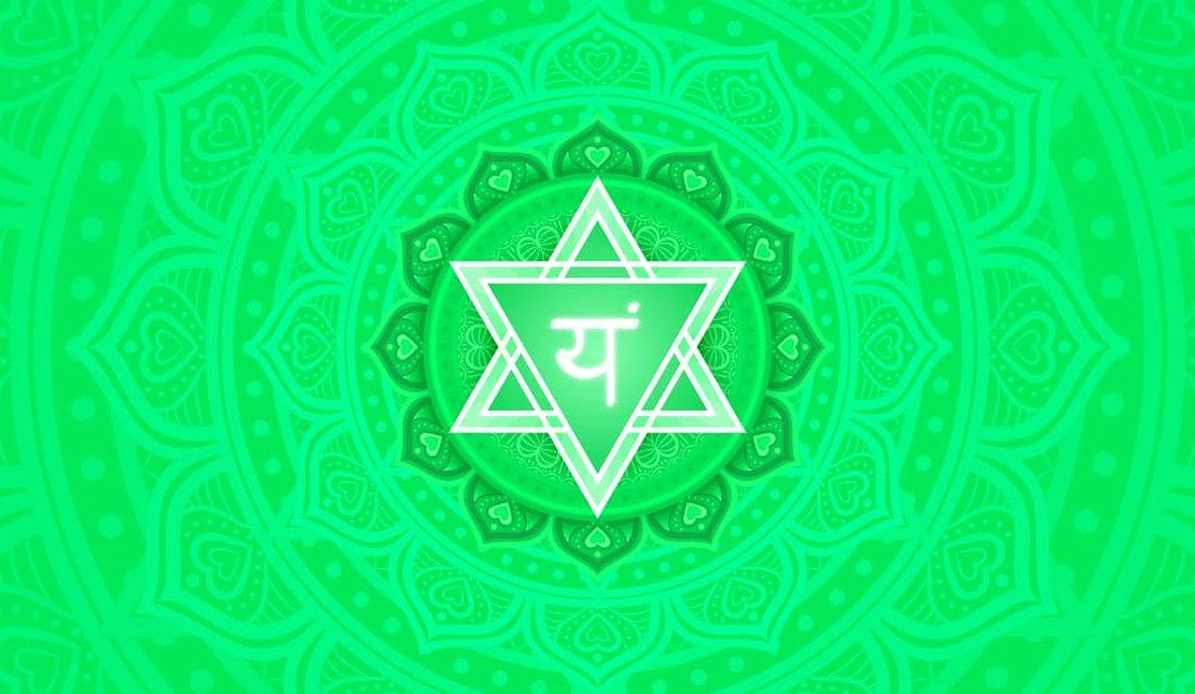 Heart chakra mandala represented in green