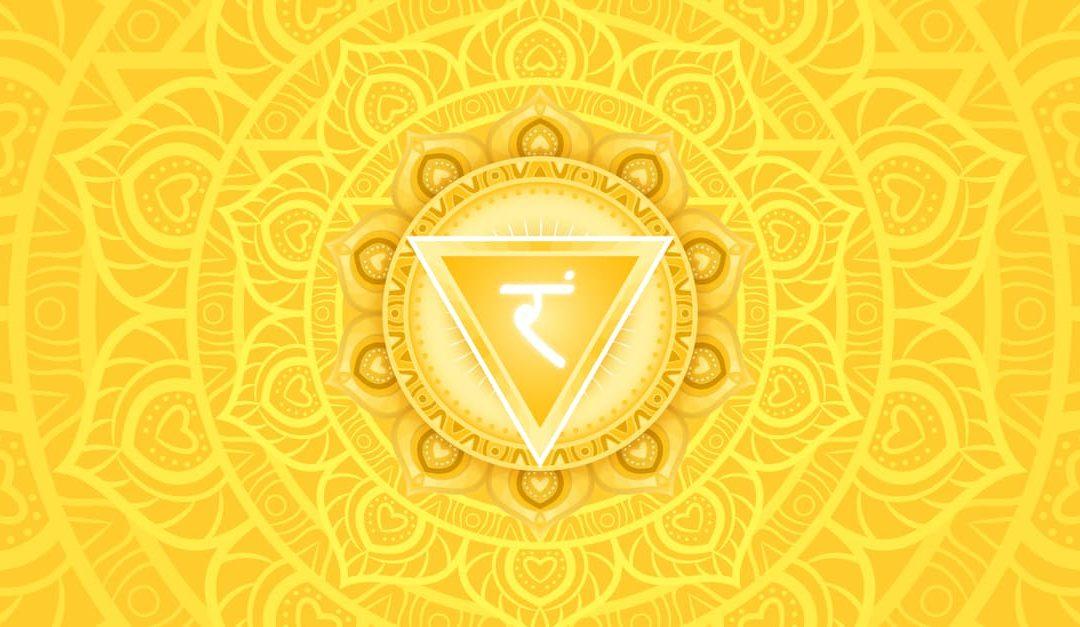 Manipura, solar plexus chakra symbol.