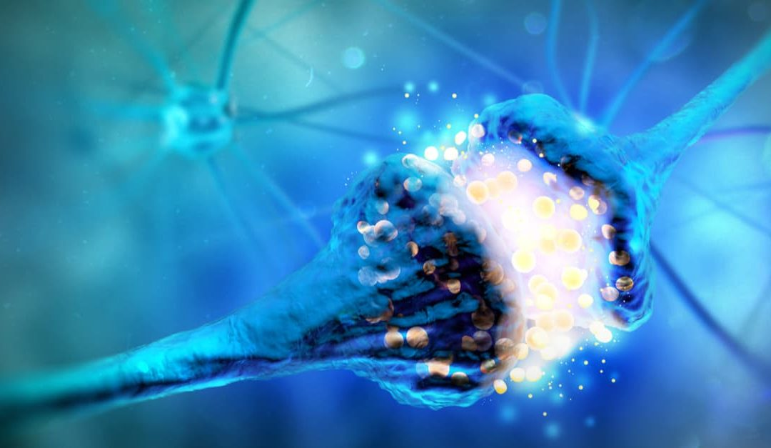 Neurotransmitters - Synapse and Neuron cells sending electrical chemical signals