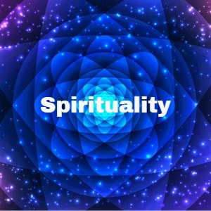 Spirituality on a colorful background