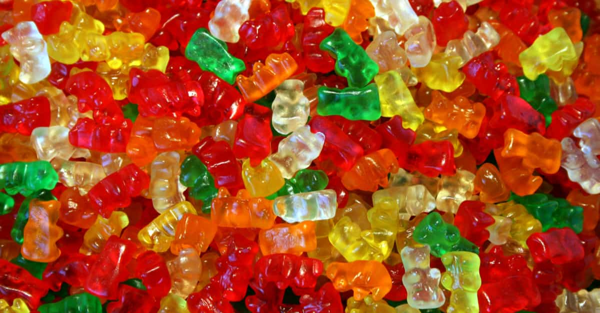Lots of colorful Gummy Bears to experiment with