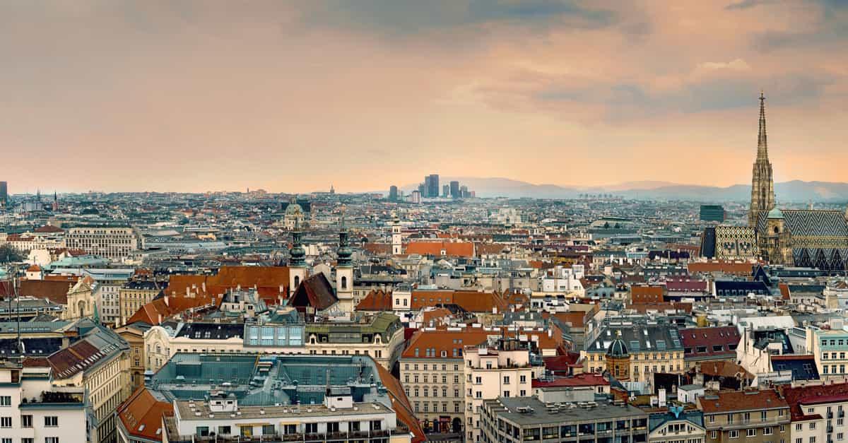 Panoramic aerial view of Vienna