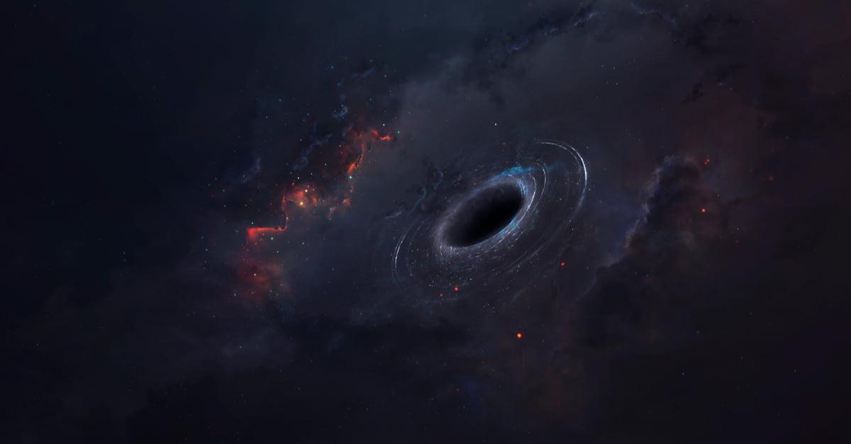 Cosmic landscape image of a black hole
