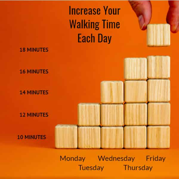 Increase your walking time each day