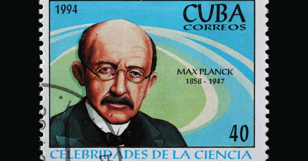 Cuban postage stamp with Max Planck - the man who discovered Planck's constant