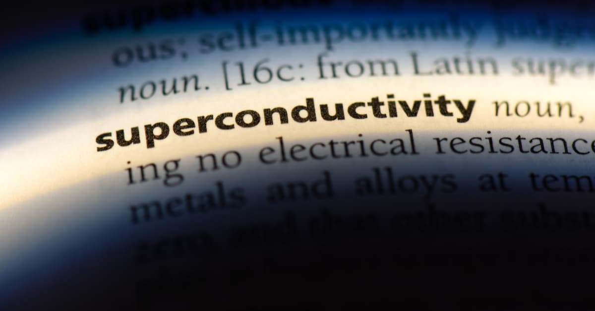 Superconductivity word in a dictionary